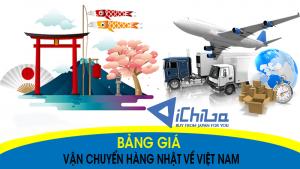 Bảng giá vận chuyển hàng Nhật Việt