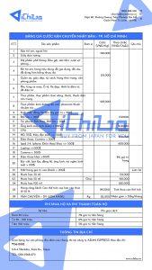 Bảng giá vận chuyển hàng Nhật về Việt Nam