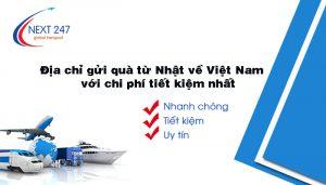 Địa chỉ gửi quà từ Nhật về Việt Nam