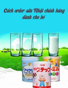 order sữa Nhật chính hãng