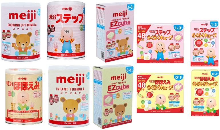 Order các loại sữa Meiji Nhật