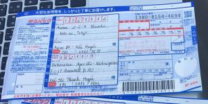 Mẫu bill gửi post nội địa Nhật