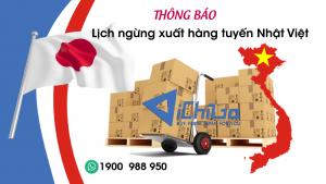 Thông báo dừng xuất hàng tuyến Nhật Việt