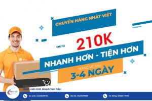 giá cước vận chuyển Nhật Việt