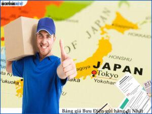 Bảng giá gửi hàng đi Nhật qua bưu điện